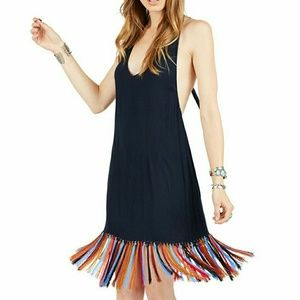 Cleobella Dresses - CLEOBELLA X ZELLA DAY OPHELIA HALTER FRINGE DRESS